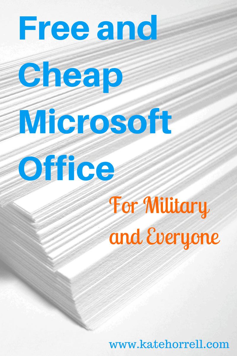 Microsoft Office Discounts For Military - KateHorrell