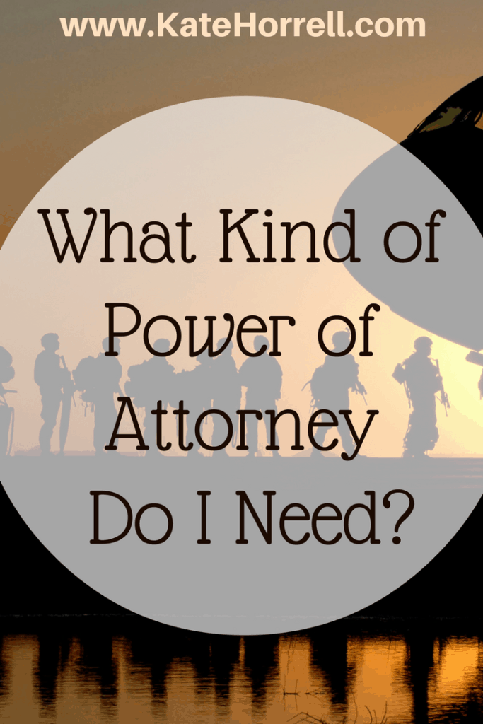 Now I know exactly which Power of Attorney I need!