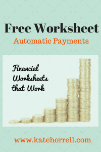 Free Financial Worksheet | www.KateHorrell.com
