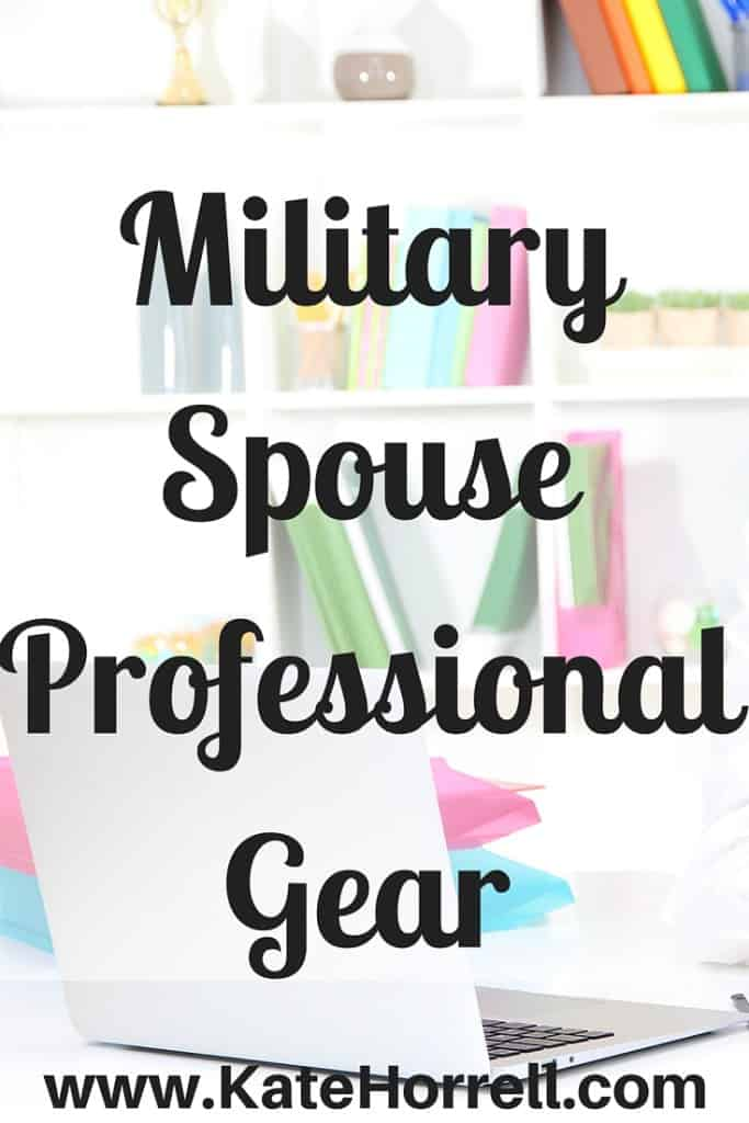 Did you know that military spouses get a professional gear allowance, too? | www.KateHorrell.com