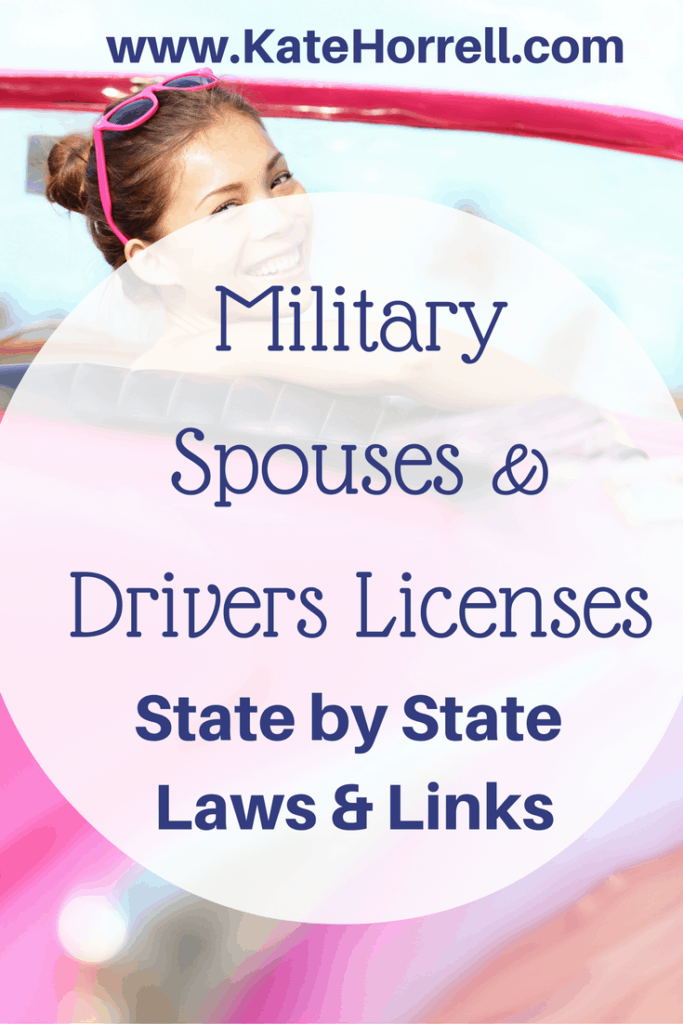 Military Spouses and Drivers LIcenses - Do You Have To Change Your LIcense When You Move?