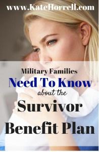 Survivor Benefit Plan basics