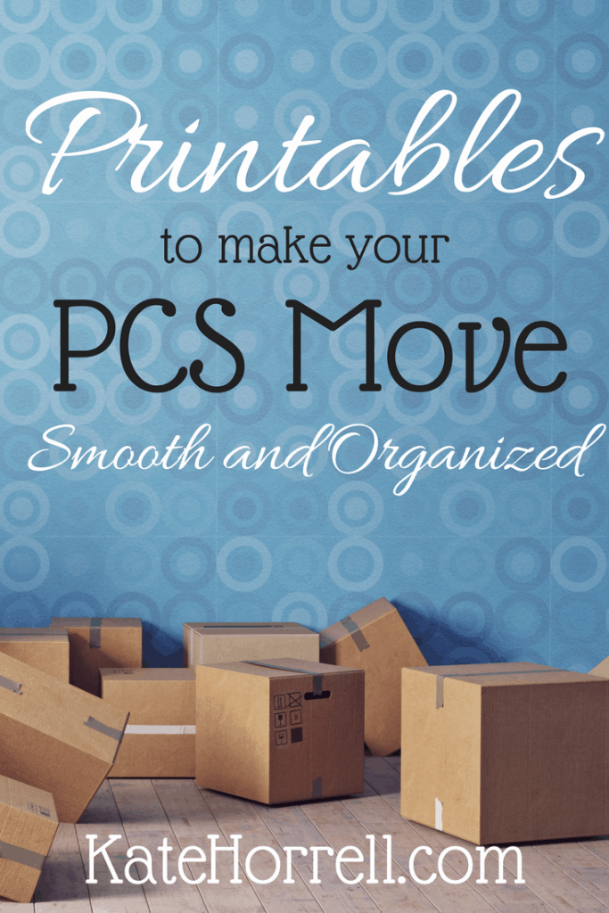 Printables for a PCS Binder and other tips for a smooth military move