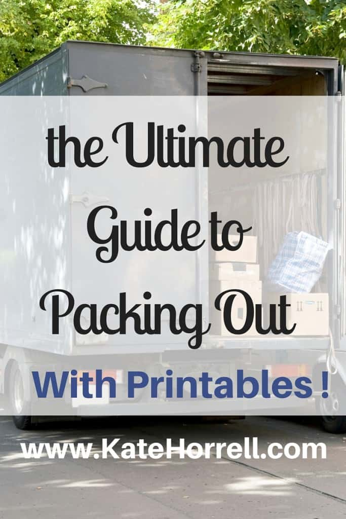 The Ultimate PCS Guide to Packing Out | www.KateHorrell.com