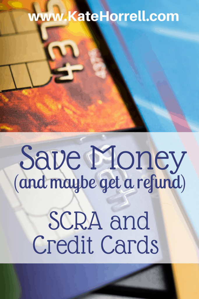 People are getting thousands of dollars back by asking for SCRA benefits on their credit cards!