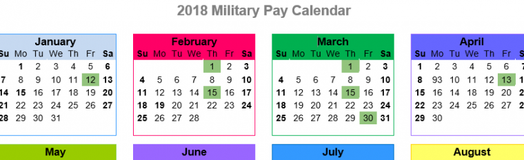 2018 Active Duty Military Paydays – With Printables