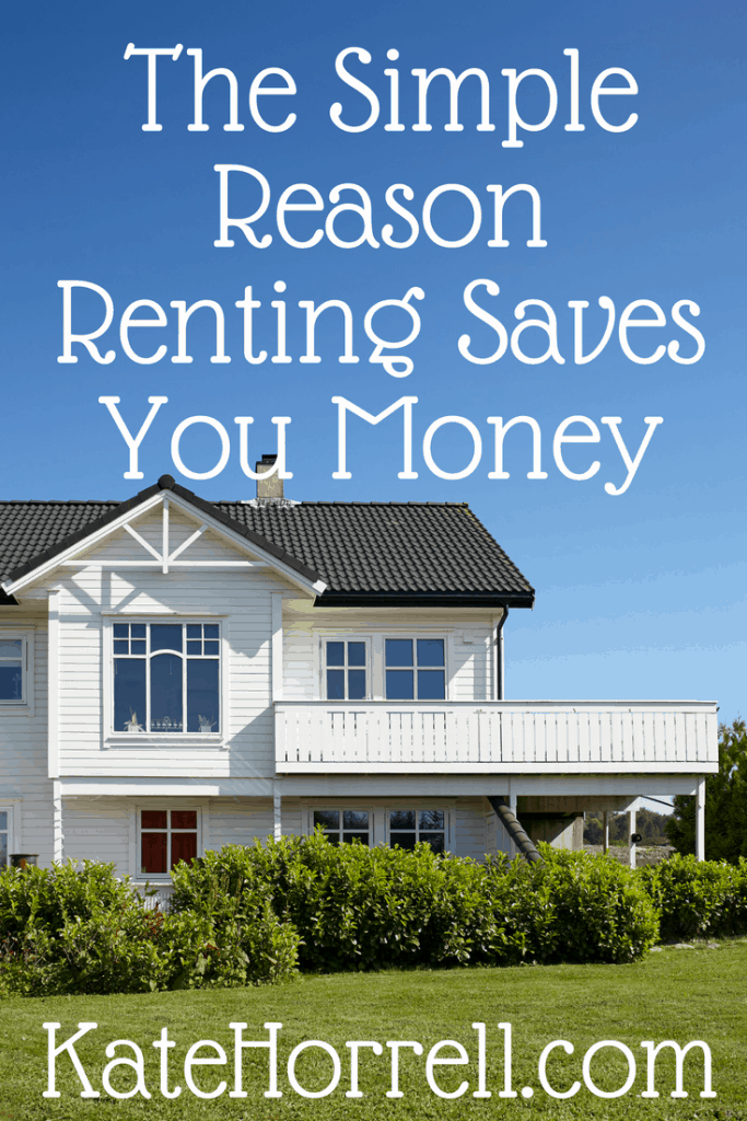 why Renting saves money