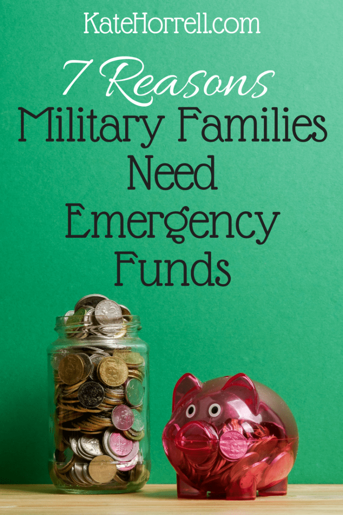 Military Families NEED Emergency Funds - maybe even more than everyone else