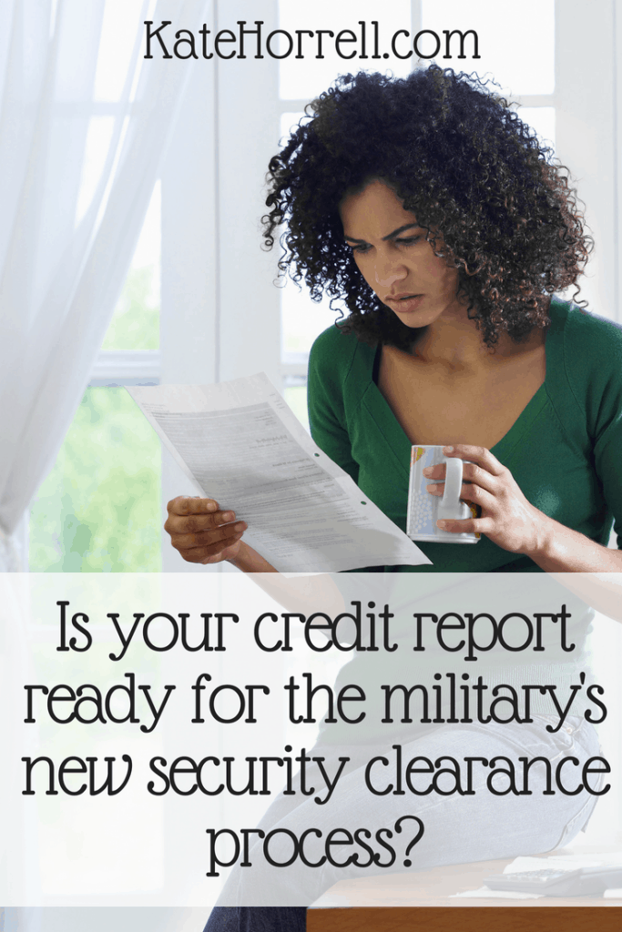 Your finances are more important than ever if you have a military security clearance.