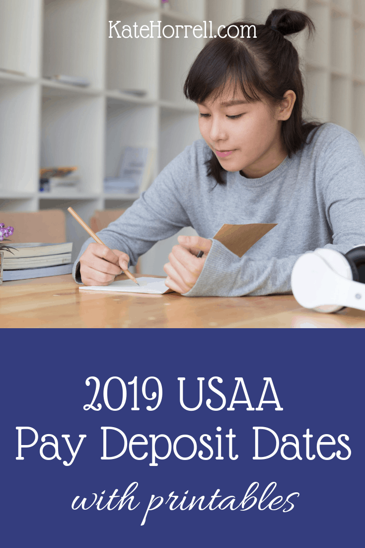 December 2019 Military Calendar Retirement 2019 USAA Military Pay Deposit Dates   With Printables   KateHorrell