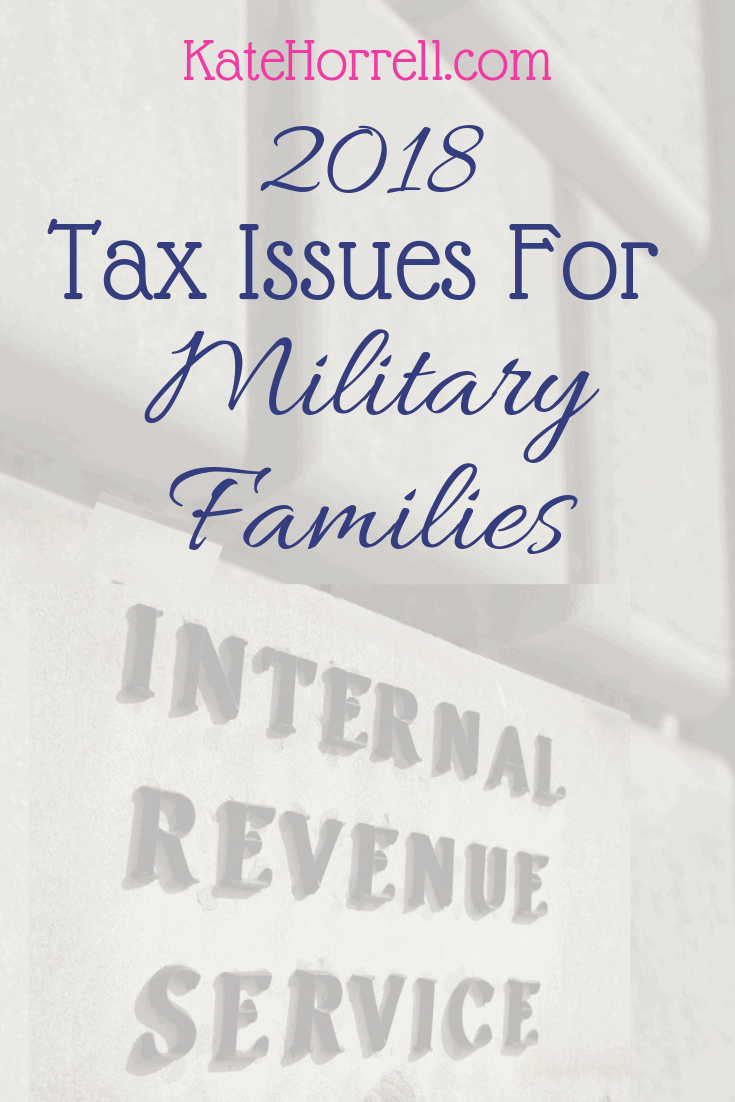 income tax issues for military families
