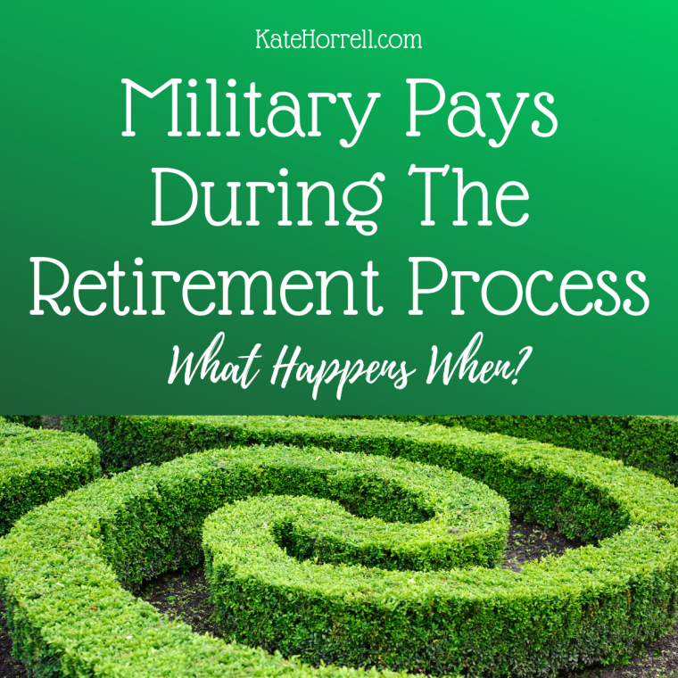 Military Pay, Retirement Pay, and Disability Compensation Pay Timelines