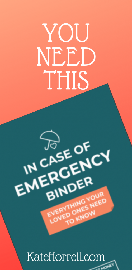 Your family needs this In Case of Emergency workbook if something happens.