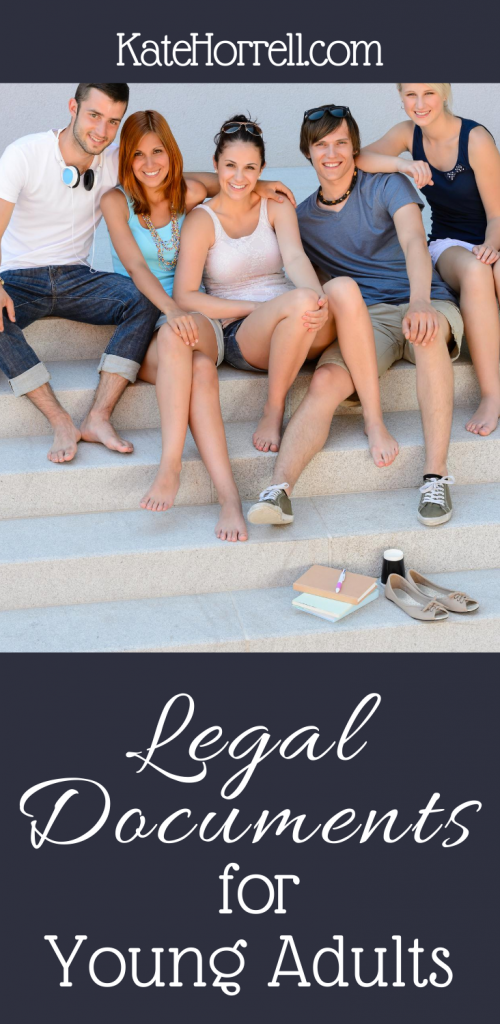 Legal Documents for Young Adults and College Students