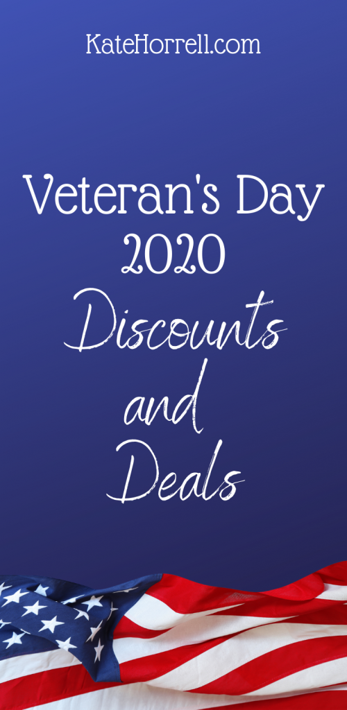 Veterans Day Deals and Discounts for 2020