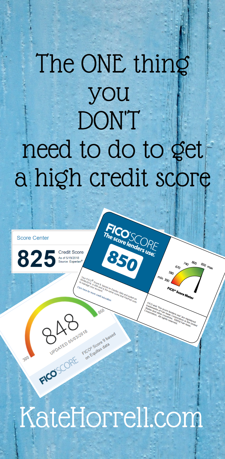 You don't need to carry a balance to have a high credit score