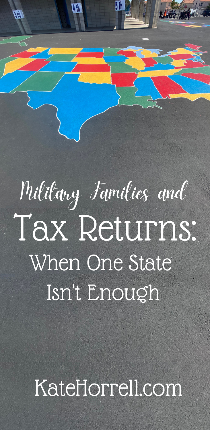 When do military families need to file tax returns in more than one state?